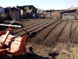 Вспашка, копка земли, огорода, земельного участка минитрактором